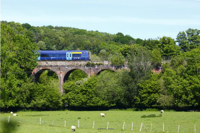 James Brunker | Southern Rail Train Crossing Colebrook Viaduct Kent