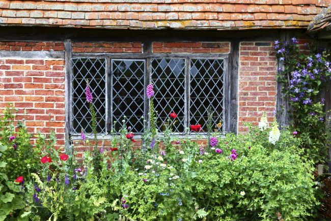 James Brunker | Lattice Window and Flower Bed Chiddingstone Kent