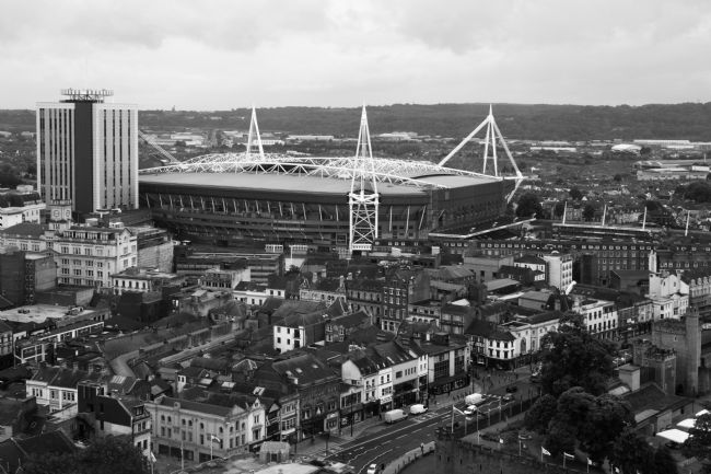 James Brunker | View Over Millennium Stadium and Central Cardiff
