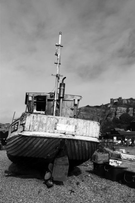 James Brunker | Old wooden fishing boat Hastings