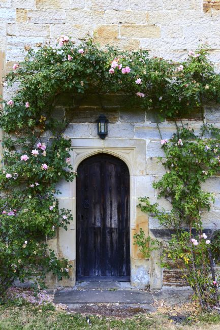 James Brunker | Church door and Roses Chiddingstone Kent