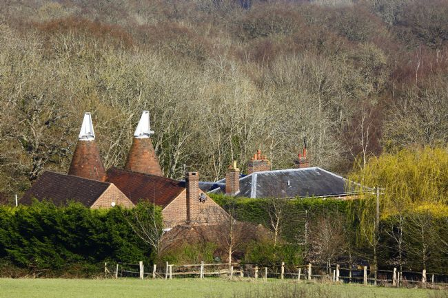 James Brunker | Oast House and Wealden Woodland in Early Spring Kent