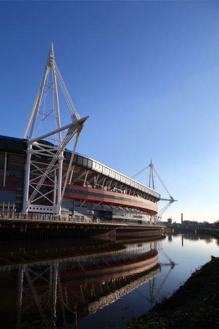James Brunker | Millennium Stadium Reflected in River Taff Cardiff
