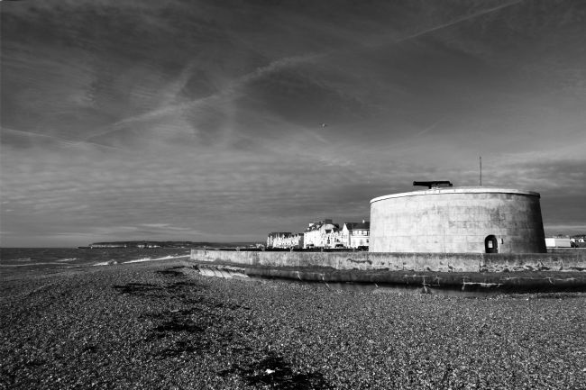 James Brunker | Martello Tower Black and White Seaford East Sussex