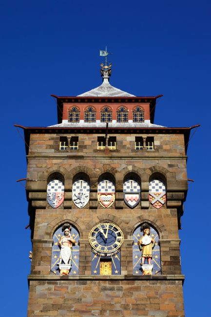 James Brunker | Cardiff Castle Clock Tower Detail