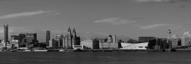 Liam OMalley | Black and White Summer Liverpool Waterfront