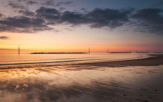 David Powley | Norfolk Beach Sunrise at Sea Palling