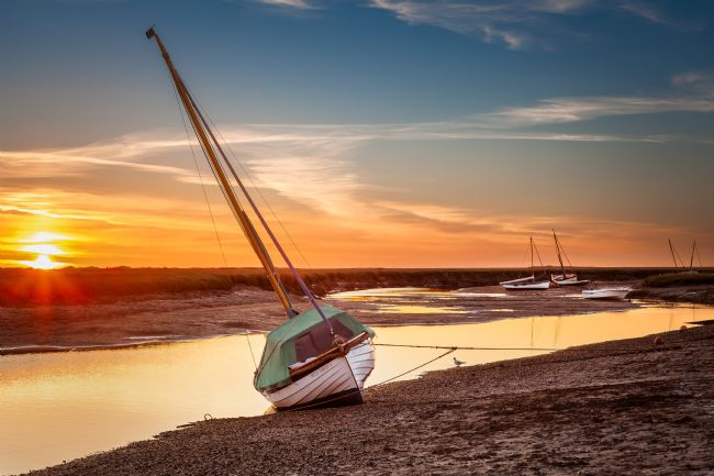 David Powley | Blakeney low tide sunset