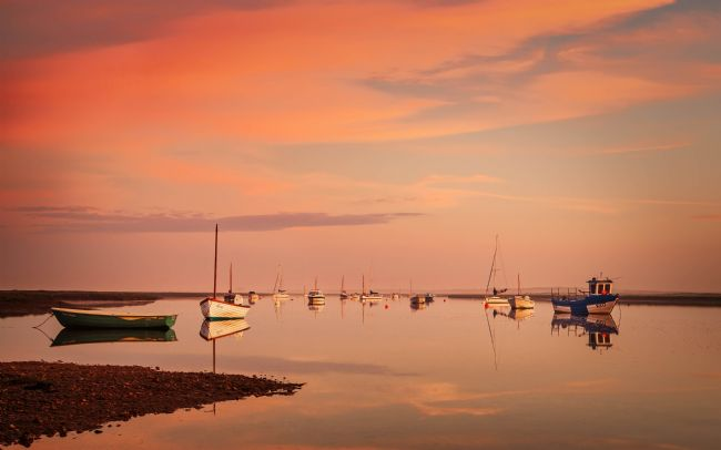 David Powley | Dawn reflections at Brancaster Staithe