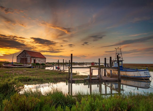 David Powley | High tide Sunset at Thornham Harbour