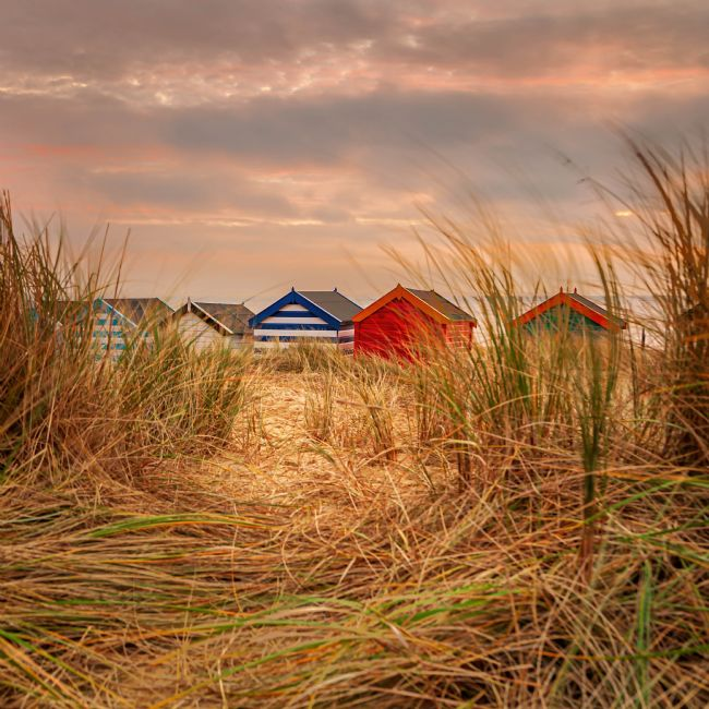 David powley | Southwold Beach huts at dawn