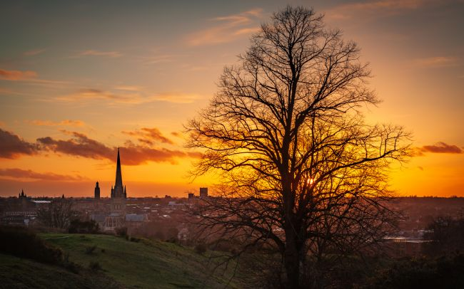 David Powley | Sunset over Norwich