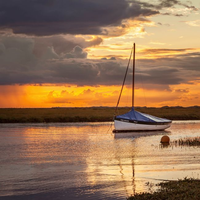 David Powley | Stormy sunset at Blakeney