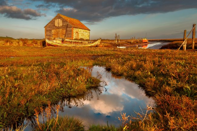 David Powley | Early light at Thornham Harbour