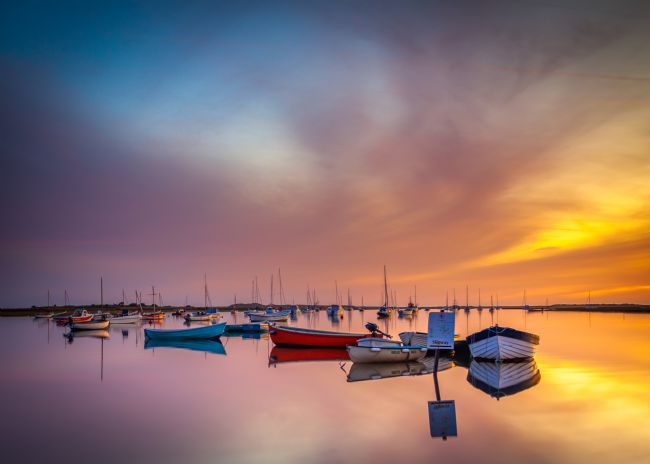 David Powley | Early morning reflections at Brancaster Staithe