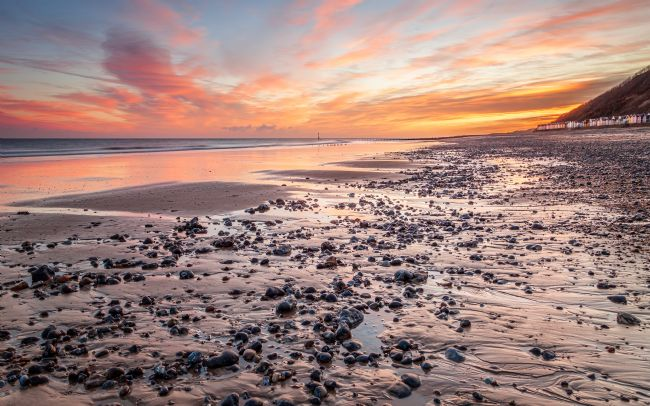 David Powley | Sunrise Sky Over Cromer Beach Norfolk