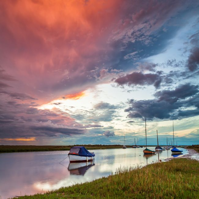 David Powley | Moody sky over Blakeney