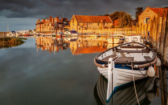 David Powley | Evening Reflections at Blakeney Harbour Norfolk