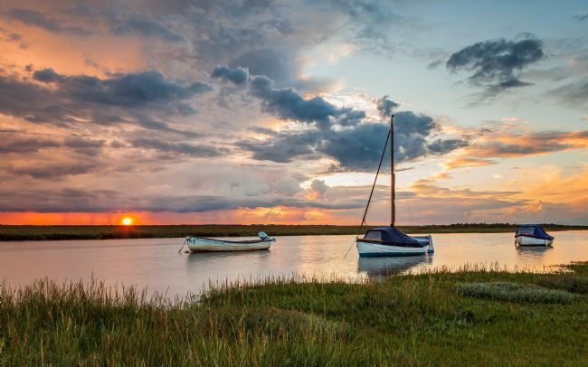 David Powley | Under stormy sky at Blakeney