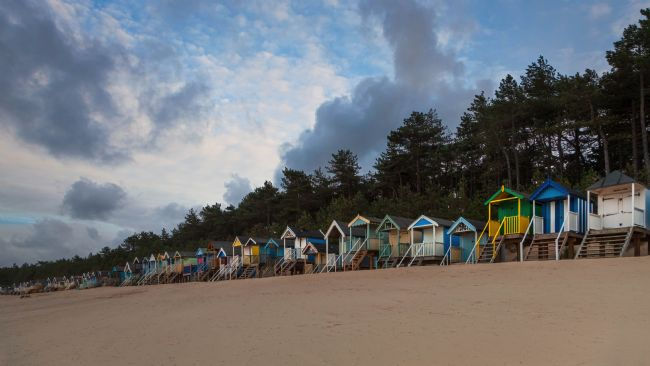 David Powley | Colourful Beach Huts at Wells North Norfolk