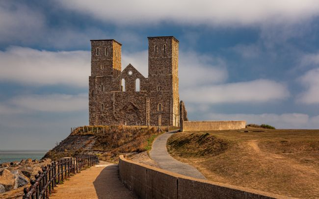 David Powley | Sunlight on the Reculver Towers