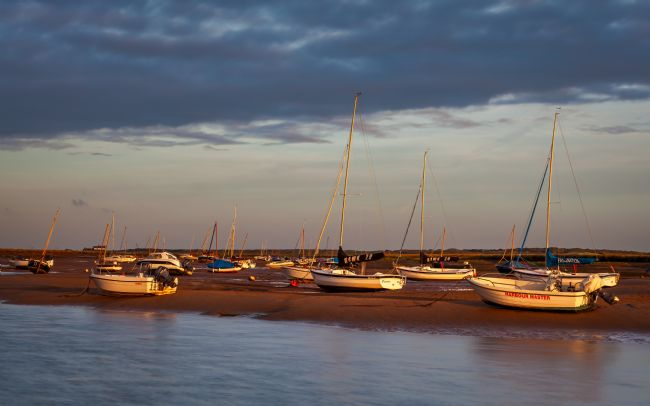 David Powley | Waiting for the tide at Brancaster Staithe