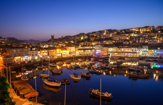 John Fowler | Brixham Harbour At Twilight