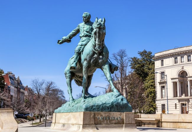 William Perry | General Phil Sheridan Statue Sheridan Circle Embassy Row Washing