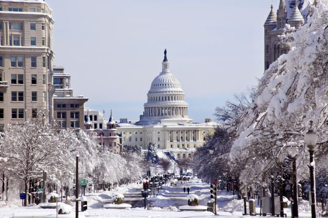 William Perry | US Capital Pennsylvania Avenue After the Snow Washington DC