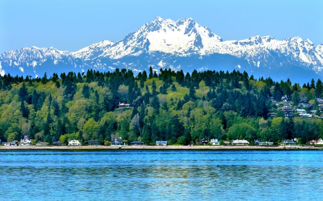 William Perry | Bainbridge Island Puget Sound Mount Olympus Snow Mountain Washin