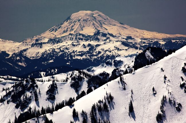 William Perry | Snowy Mount Saint Adams and Ridge Lines