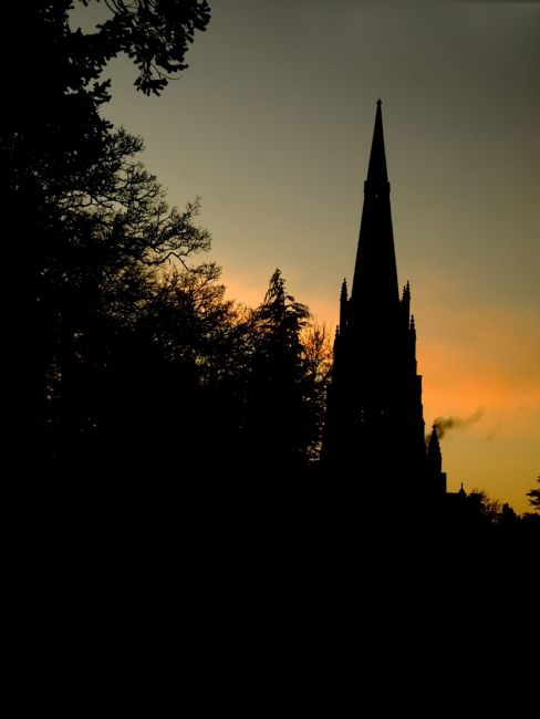 Steve Stamford | Church in silhouette