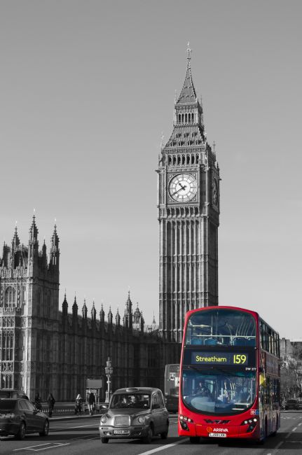 Steve Stamford | Big Ben and the bus - popped