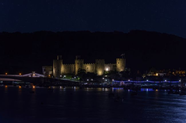 Steve Stamford | Conwy castle at night