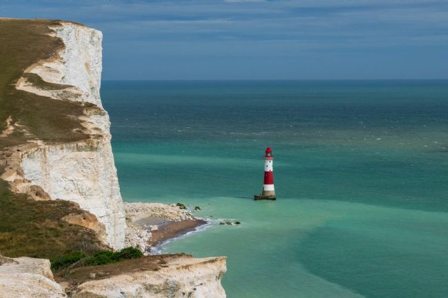 Hannah Temple | Beachy Head Lighthouse from the cliffs