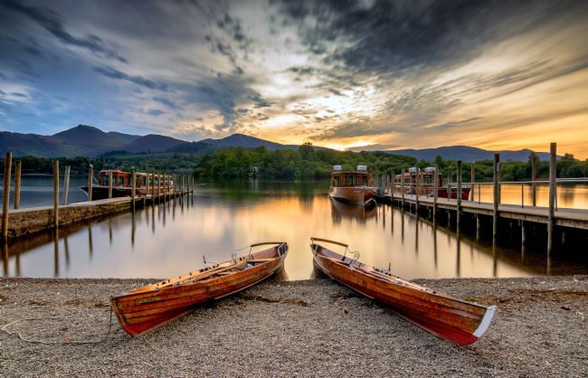 stephen cooper | derwent water sunset