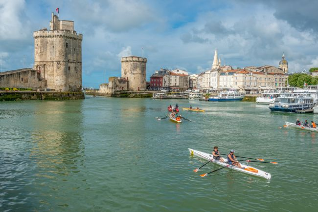 Stephen Rennie | Canoes in the port of La Rochelle, Charente Maritime