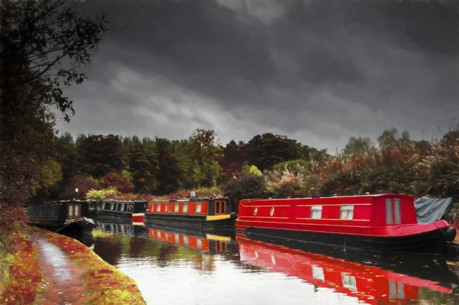 Mary Fletcher | Autumn Canal Boats