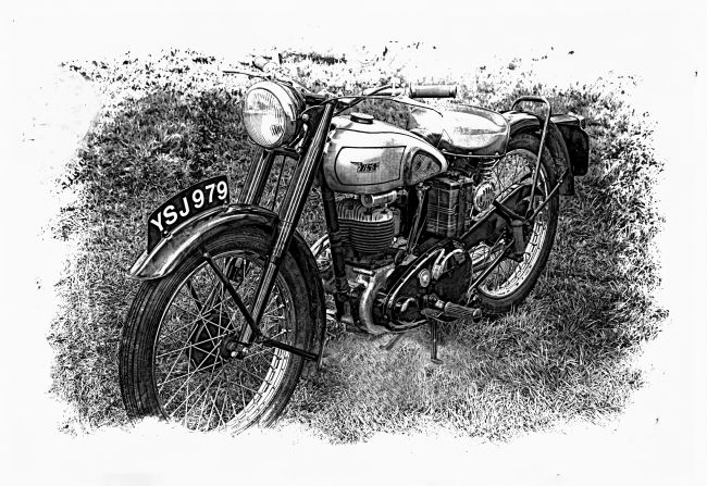 Mary Fletcher | BSA Motorbike