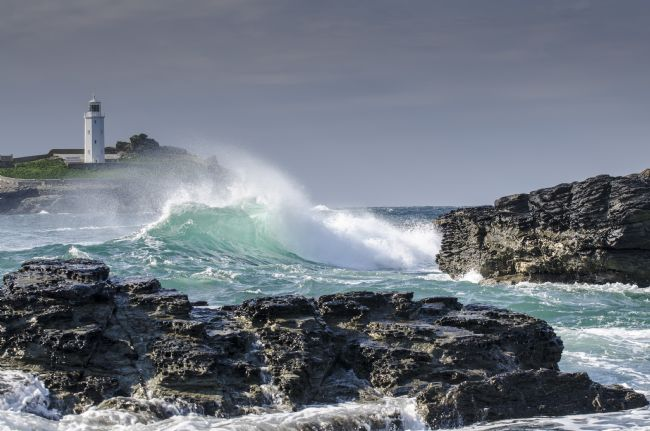 Mary Fletcher | Wave at Godrevy Lighthouse
