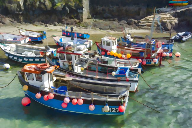 Mary Fletcher | Colourful Fishing Boats