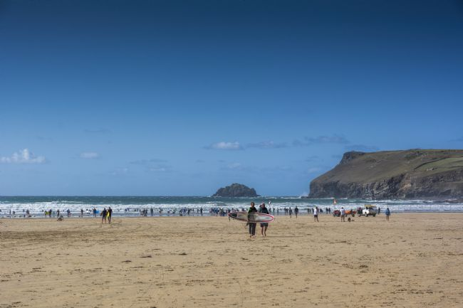 Mary Fletcher | Surfers on Polzeath Beach