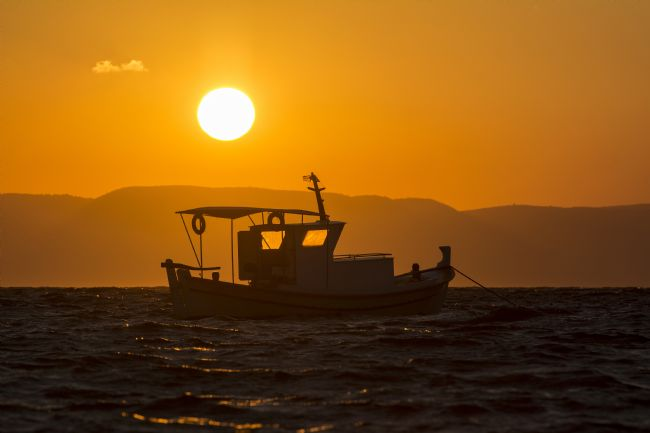 Mary Fletcher |  Fishing Boat at Sunset