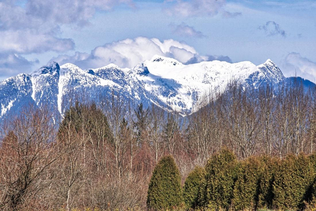 Chris Langley | Looking towards Golden Ears From the Fraser Valley, British Columbia