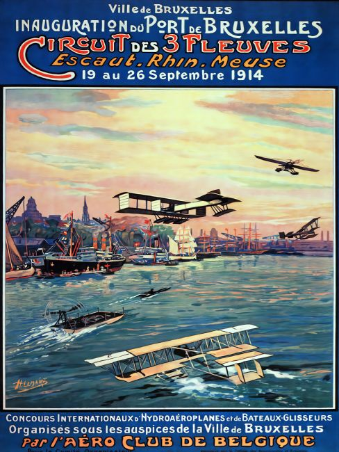 Chris Langley | Brussels Port Seaplane Meet, Belgium 1914