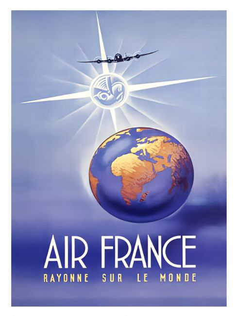 Chris Langley | Air France Aviation Poster