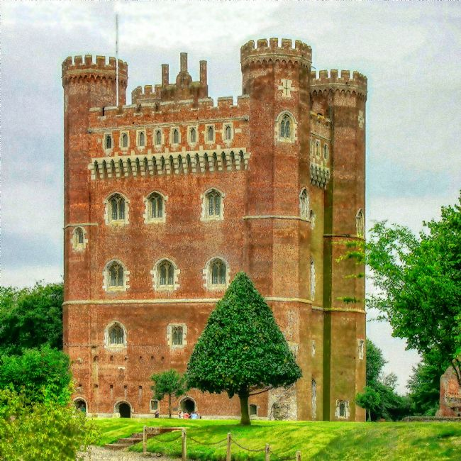 Chris Langley | Tattershall Castle - Lincolnshire - Watercolour