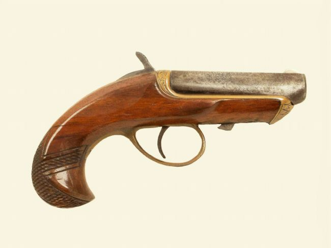 Chris Langley | Williamson Derringer black powder pistol, c1870