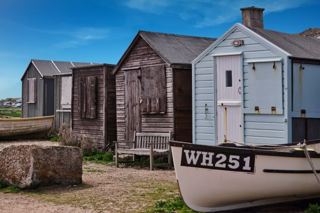 Chris Langley | Fishermen's huts at Portland Bill, Dorset