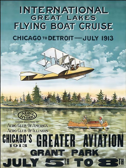 Chris Langley | Flying Boat Cruise, Chicago 1913